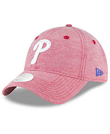 New Era Philadelphia Phillies Team Linen 9TWENTY Strapback Cap