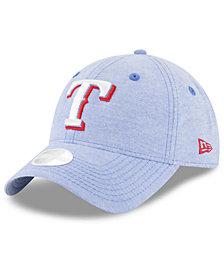 New Era Texas Rangers Team Linen 9TWENTY Strapback Cap