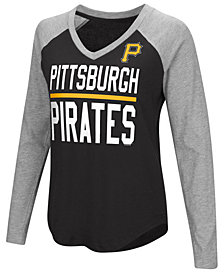 G-III Sports Women's Pittsburgh Pirates Power Hitter Raglan T-Shirt