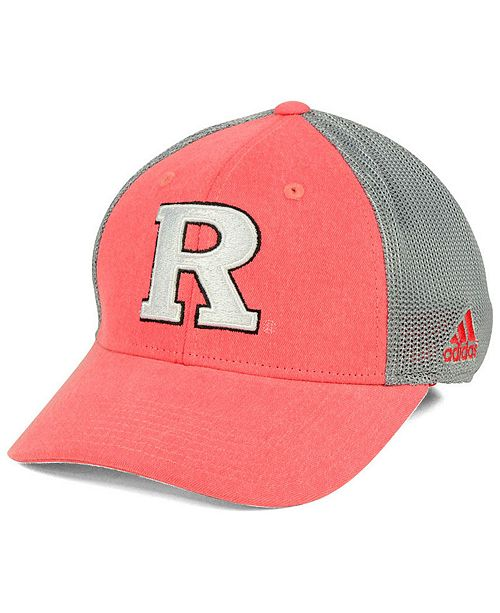 d64047d1e20 adidas Rutgers Scarlet Knights Faded Flex Cap - Sports Fan Shop By ...