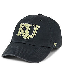 '47 Brand Kansas Jayhawks Double Out CLEAN UP Cap