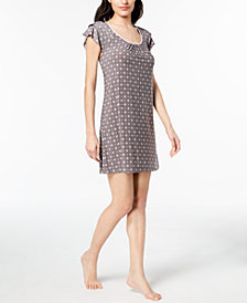 Alfani Printed Flutter-Sleeve Nightgown, Created for Macy's