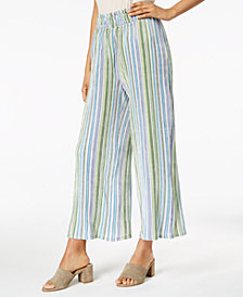 NY Collection Petite Striped Wide-Leg Pants