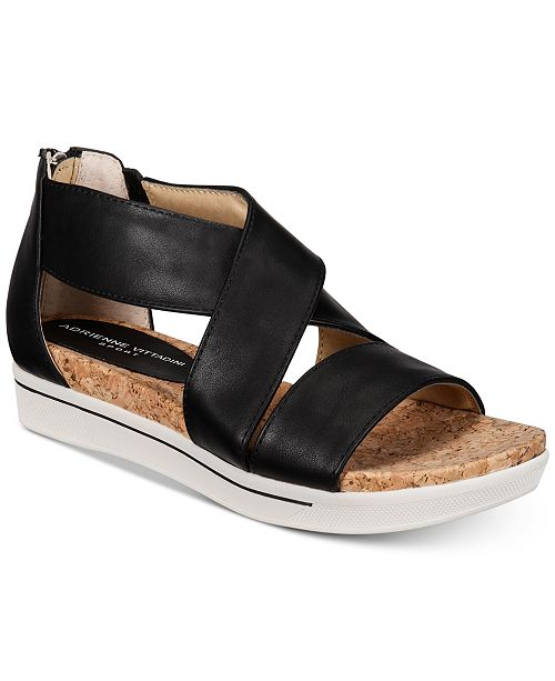 5a63af28aa3a Adrienne Vittadini Claud Sport Flatform Sandals   Reviews - Sandals ...