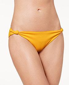 Dolce Vita Knot-Side Ribbed Bikini Bottoms