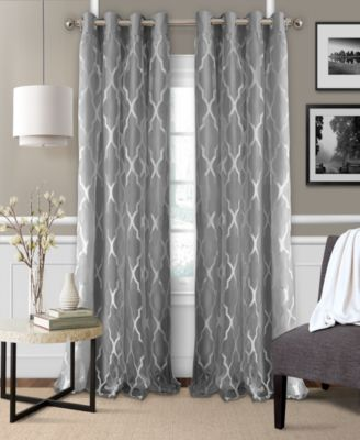 "Bethany 52"" x 95"" Sheer Overlay Blackout Grommet Curtain Panel"