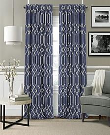"Devin 52"" x 95"" Blackout Rod Pocket/Back Tab Curtain Panel"