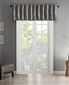 "Madison Park Andora 50"" x 18"" Faux-Silk Embroidered Rod Pocket Valance"
