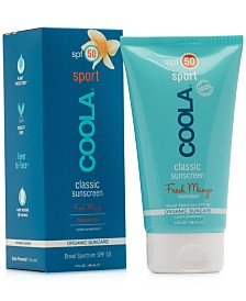 Coola Sport Classic Sunscreen Fresh Mango Moisturizer SPF 50