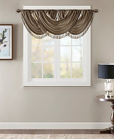 "Madison Park Elena 38"" x 46"" Faux-Silk Rod Pocket Waterfall Valance"