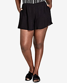 City Chic Trendy Plus Size Ruffled Shorts