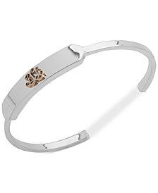 Lauren Ralph Lauren Two-Tone Logo Crest Cuff Bracelet