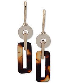 Lauren Ralph Lauren Gold-Tone Acetate Stone Drop Earrings
