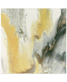 Madison Park Blissful Yellow Gel-Coated Canvas Print with Silver-Tone Foil Embellishment