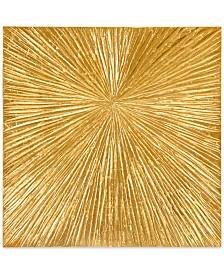 Madison Park Signature Sunburst Gold-Tone Resin Dimensional Box Wall Art