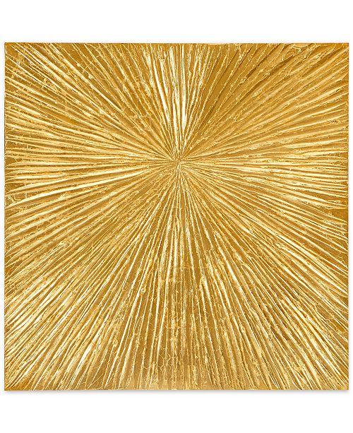 JLA Home Madison Park Signature Sunburst Gold-Tone Resin Dimensional Box Wall Art