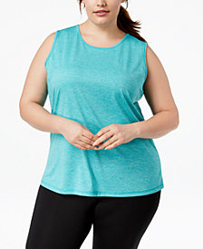 Ideology Plus Size Sleeveless T-Shirt, Created for Macy's