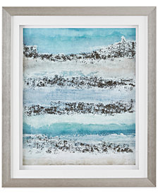 Madison Park Signature Coastal Abstract Blue Framed Graphic Print