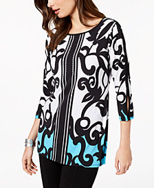 JM Collection Split-Sleeve Tunic, Created for Macy's