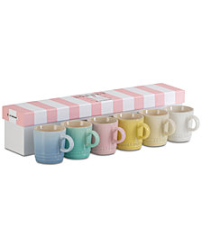 Le Creuset Sorbet Collection 6-Pc. Espresso Mugs Set