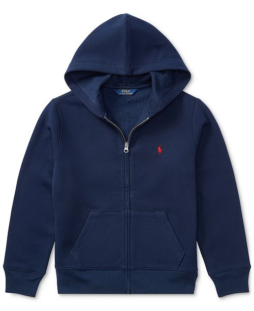 c3d84eae1db9 Polo Ralph Lauren Big Boys Full Zip Hoodie   Reviews - Sweaters ...