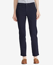 Lauren Ralph Lauren Straight-Leg Stretch Pants