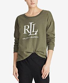 Lauren Ralph Lauren Petite French Terry Cotton Sweatshirt