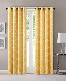 "Madison Park Saratoga 50"" x 84"" Fretwork-Print Grommet Curtain Panel"