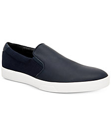 Calvin Klein Men's Ivo Leather Slip-On Sneakers