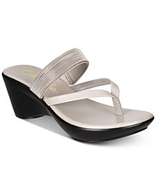 Callisto Elora Thong Platform Wedge Sandals
