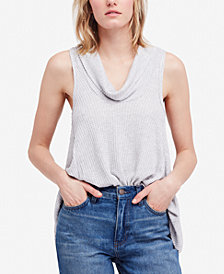 Free People Swing It Sleeveless Cowl-Neck Top