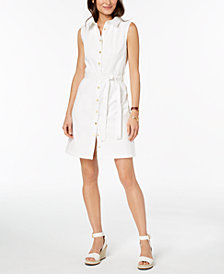 Tommy Hilfiger Twill Shirtdress, Created for Macy's