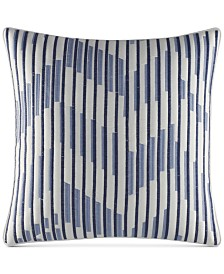 "Nautica Waterbury 16"" Square Embroidered Decorative Pillow"