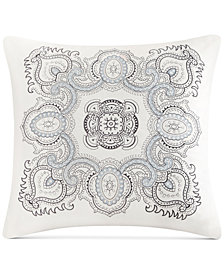"Echo Design Larissa Embroidered Cotton 18"" X 18"" Decorative Pillow"