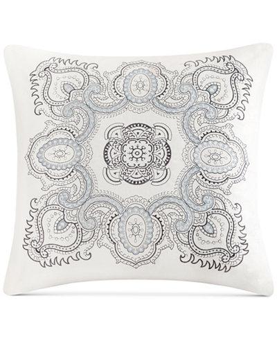 Echo Design Larissa Embroidered Cotton 40 X 40 Decorative Pillow Mesmerizing Echo Decorative Pillows