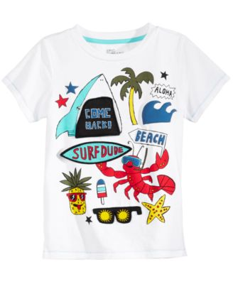 Flap-Graphic T-Shirt, Little Boys, Created for Macy's