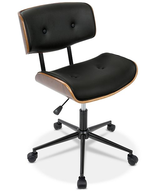 Lumisource Lombardi Faux Leather Office Chair, Quick Ship