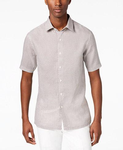 Tasso Elba Men's Linen Asmara Shirt, Created for Macy's