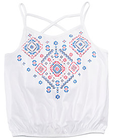 Epic Threads Embroidered Tank Top, Big Girls, Created for Macy's