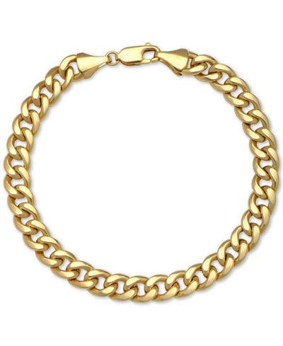 Cuban Chain Bracelet in 14k Gold