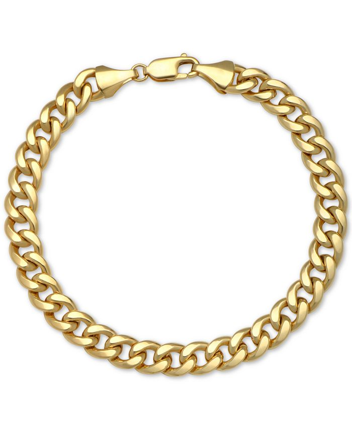 Macy's - Cuban Chain Bracelet in 14k Gold
