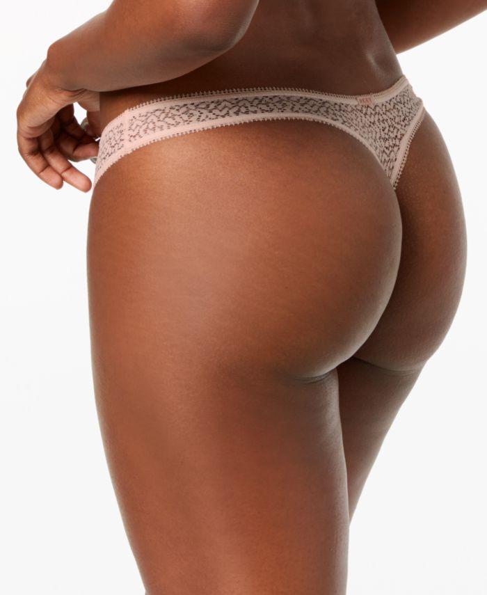 DKNY Modern Lace Satin-Trim Thong Underwear DK5013 & Reviews - Bras, Panties & Lingerie - Women - Macy's