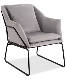 Elle Decor Odile Accent Chair, Quick Ship