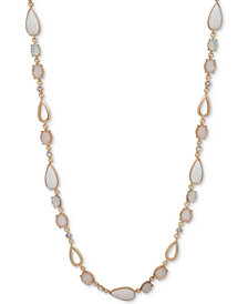 "Anne Klein Multi-Stone & Crystal 42"" Statement Necklace"