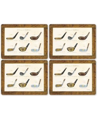 A History of Golf Set of 4 Placemats