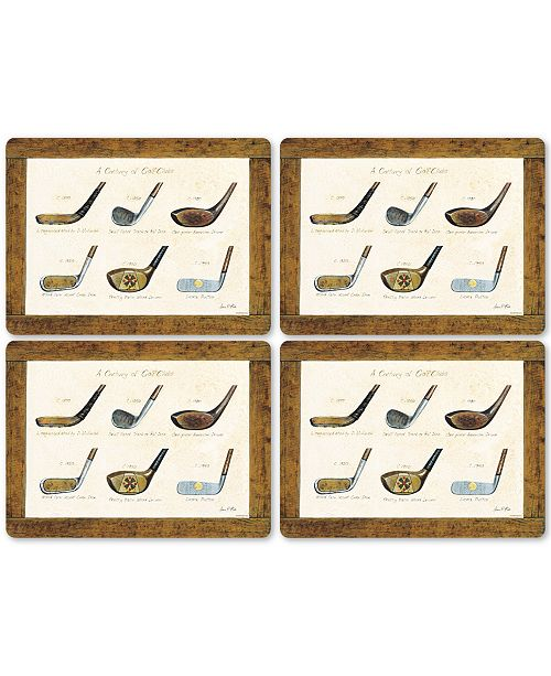 Pimpernel A History of Golf Set of 4 Placemats
