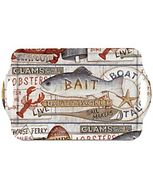 Pimpernel Coastal Signs Large Melamine Handled Tray