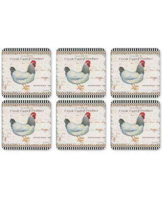 Pimpernel On the Farm Set of 6 Coasters