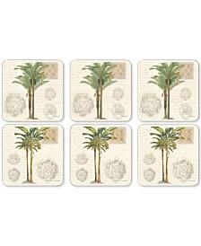 Pimpernel Vintage Palm Study Set of 6 Coasters
