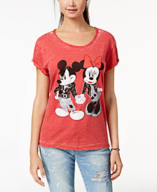 Freeze 24-7 Juniors' Minnie & Mickey Graphic-Print T-Shirt